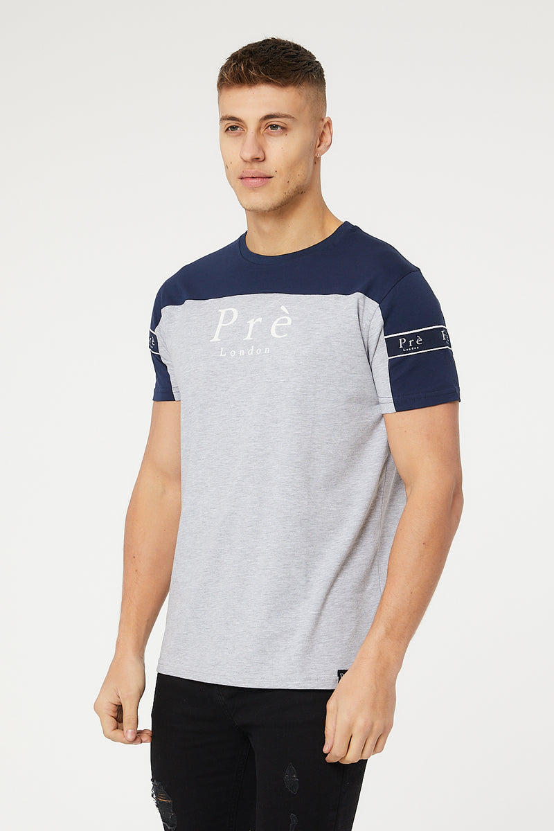 Eclipse T-Shirt - Navy/Grey