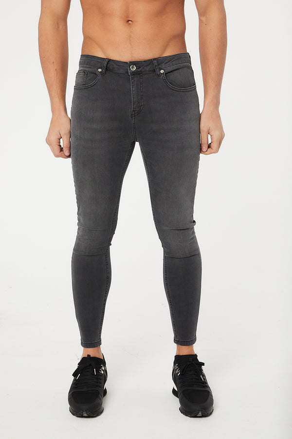 Non Ripped Jeans - Grey