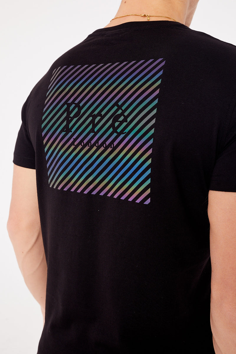 Tarbes Iridescent T-Shirt - Black/Reflective
