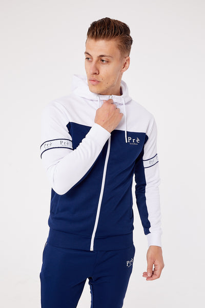 Eclipse Polyester Hoodie - Navy/White