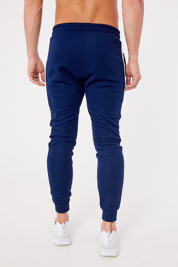 Eclipse Poly Joggers - Navy/White