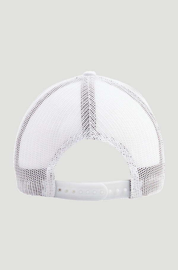 Mesh Trucker Cap - White/Black Logo