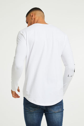 Long Sleeve Statement Tee - White