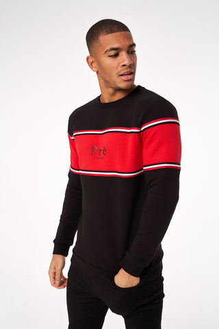 College Sweat - Black/Red