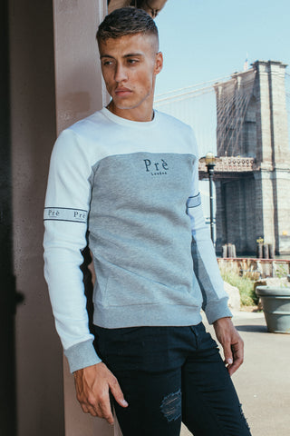 Eclipse Crew Sweat - White/Grey Marl