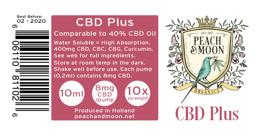 CBD Plus (Water Soluble) - Set of 2 - Peach & Moon Organics