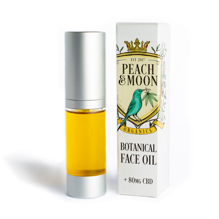Botanical Face Oil with CBD - Peach & Moon Organics