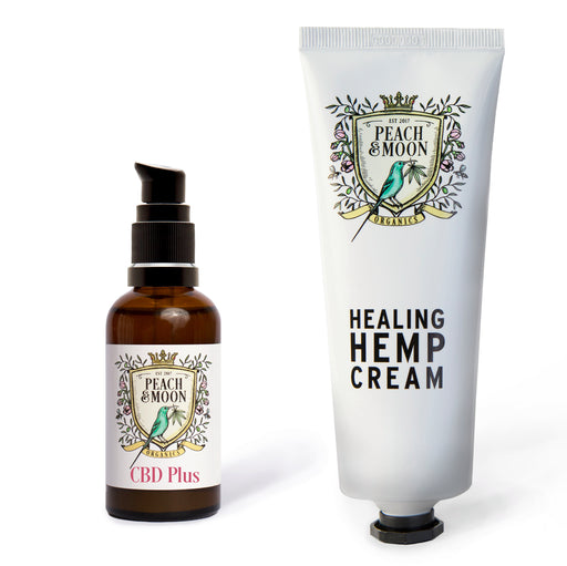 CBD Plus and Healing Hemp Cream Set - Peach & Moon Organics