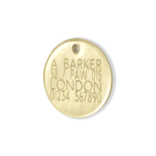 Personalised Dog ID Tag hand stamped in UK - The Stately Hound