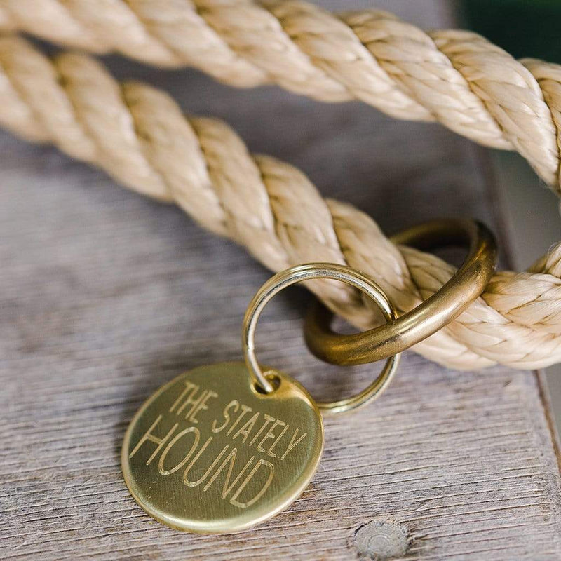 Sandstone Rope Dog Lead - The Stately Hound
