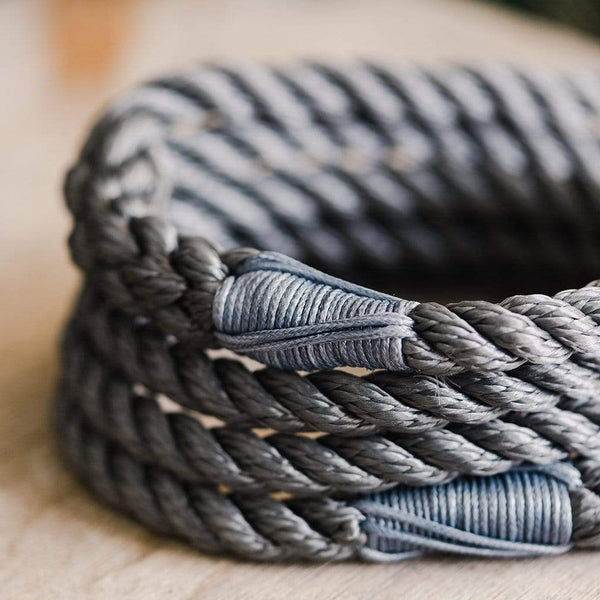 Winter Grey Rope Dog Lead - The Stately Hound