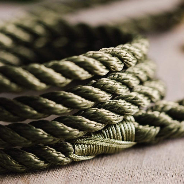 Woodland Green Rope Dog Lead - The Stately Hound
