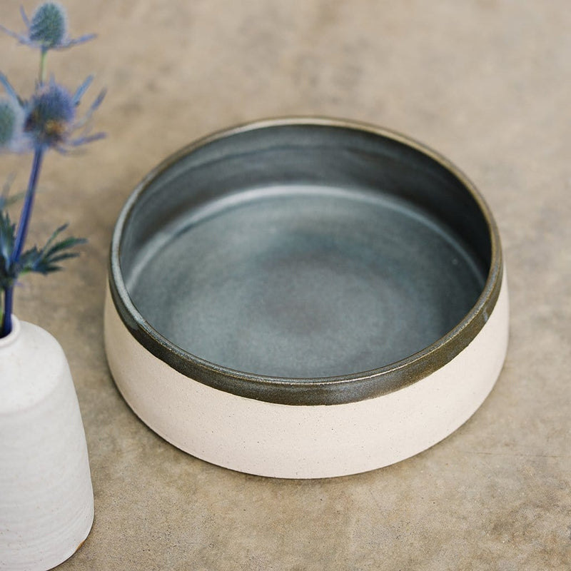 Charcoal Grey Ceramic Dog Bowl