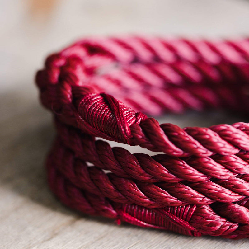 Ox Red Rope Dog Lead, 5ft Long