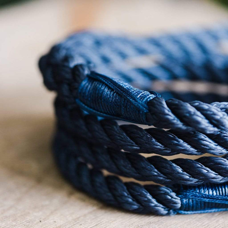 Midnight Blue Rope Dog Lead - The Stately Hound