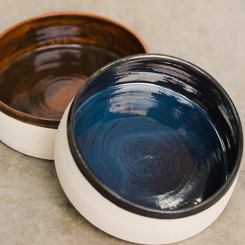 HAND THROWN DOG BOWL - BLUE - The Stately Hound