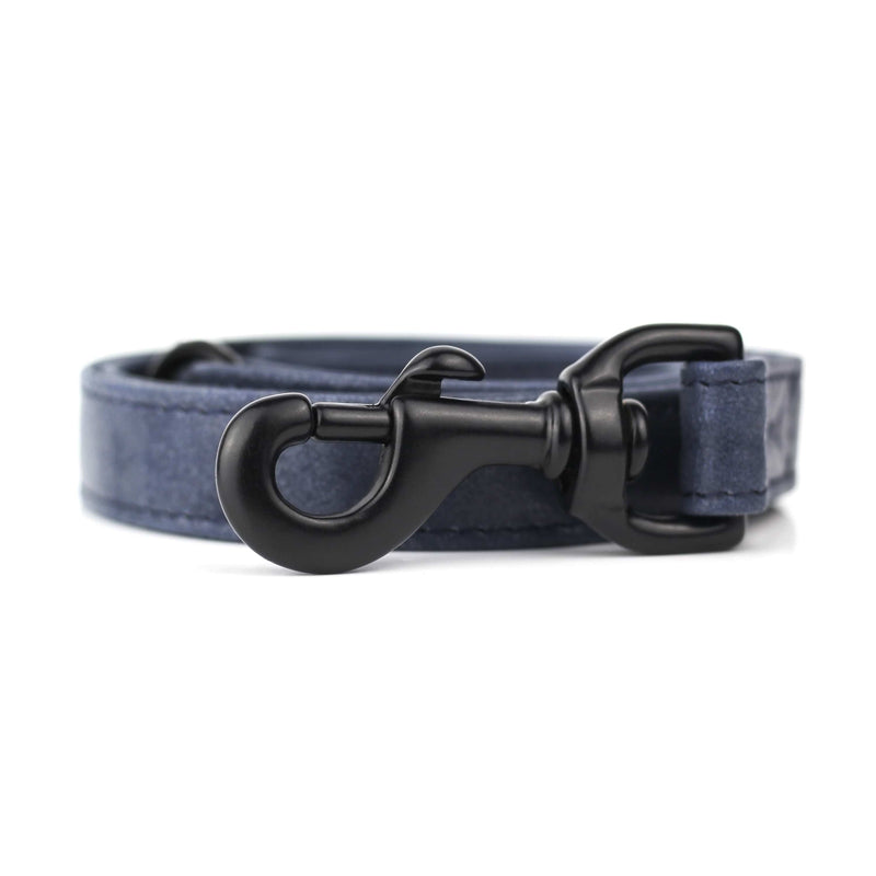 Blue Hand Stitched Leather Dog Leash - The Stately Hound