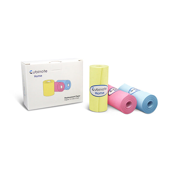 Memobird & Cubinote Home Paper - Tri-Color Mini