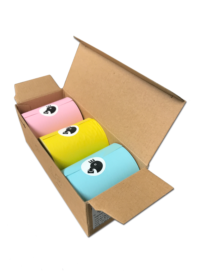 Memobird Official Replacement Paper Pack, Assorted Color Combo (MN 03G)