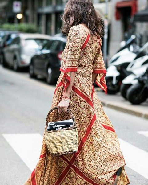 Wicker bag trend for spring summer
