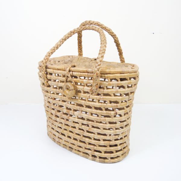 Water Hyacinth Net Basket with Lid