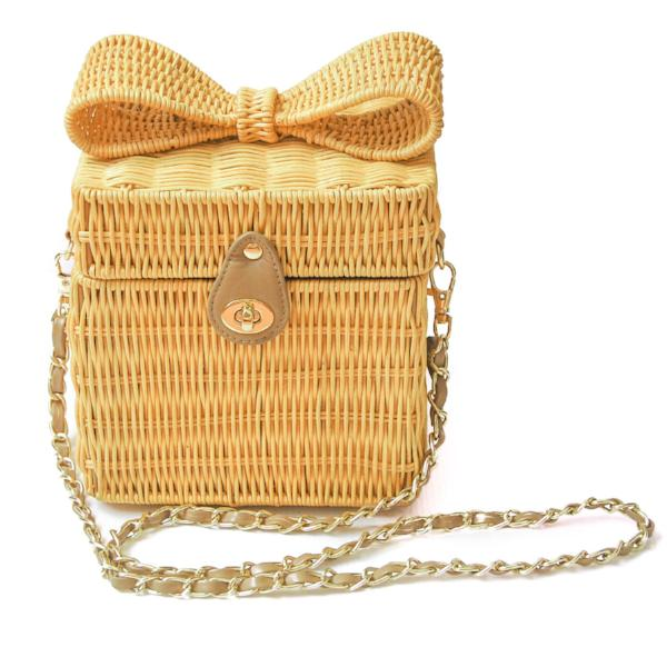 Rattan Crossbody Purse