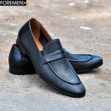 VALKAN | Black perforated leather loafers