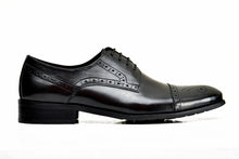 YURINA | Black full brogue oxfords