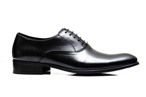 PICASSO | Black plain toe oxford shoes