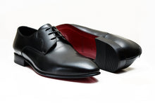 MILAN | Black leather derby shoes
