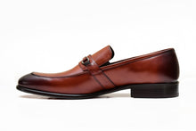 Brown Foremen Leather Slip-on with rubber sole