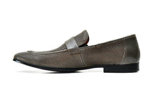 VALKAN | Grey perforated leather loafers