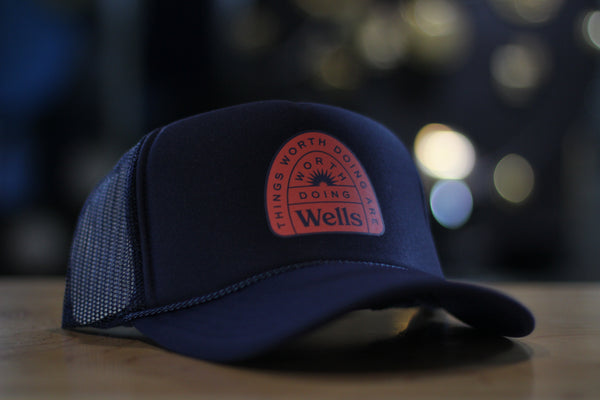 Doing Wells Navy Foam Trucker