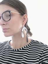 Assymetrical Earrings - Oversize Porcelain Jewelry