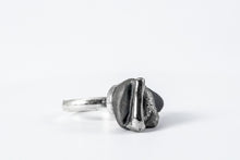 Porcelain Jewelry -  Adjustable Platinum Plated Porcelain Ring