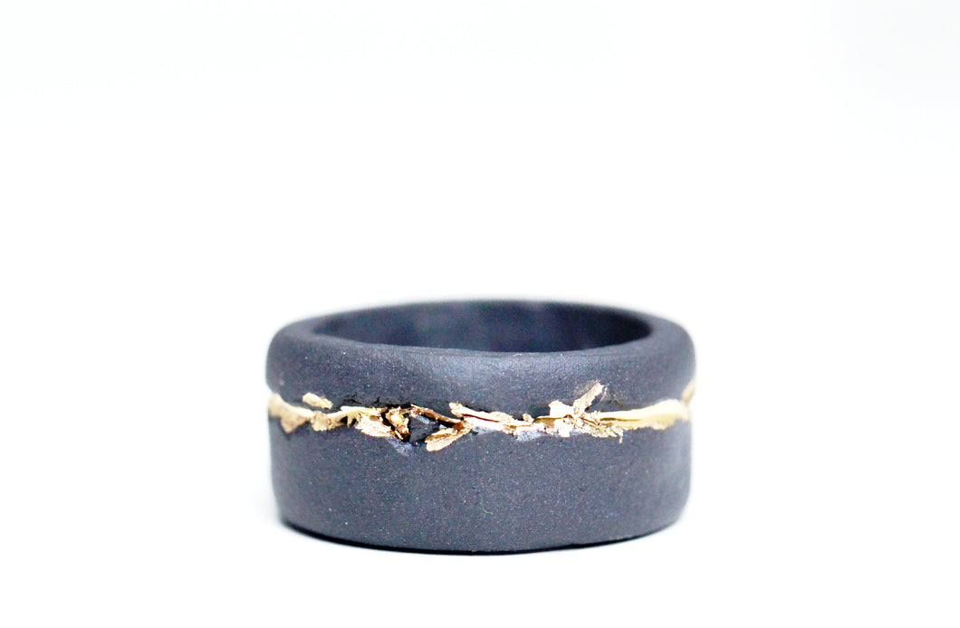 Black Porcelain Ring - Casual Ring