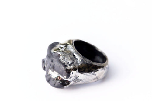 Black Bold Porcelain Ring - Rock'n'Roll
