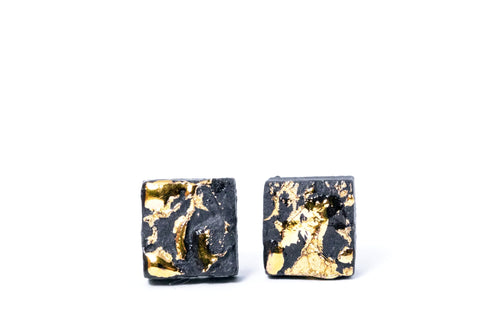Unisex earrings for men. Square studs for guys,  porcelain earrings, porcelain jewelry, ceramic earrings, ceramic jewelry, porceliano auskarai, porcelianiniai auskarai, porceliano papuošalai, porcelianiniai papuosalai, FreakyFoxx, ceramic jewelry, ceramic earrings, keramikiniai papuosalai, keramikiniai auskarai, mens earrings, earrings for men, stud earrings, papuosalai is porceliano