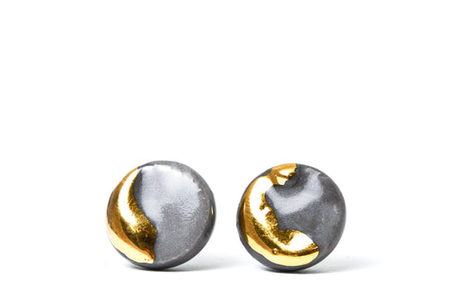 Ceramic stud earrings for men , men stud earrings, mens earrings, earrings gold