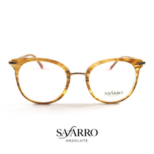 "Safarro Eyewear - ""Cerveteri"" - Striped Yellow/Gold"