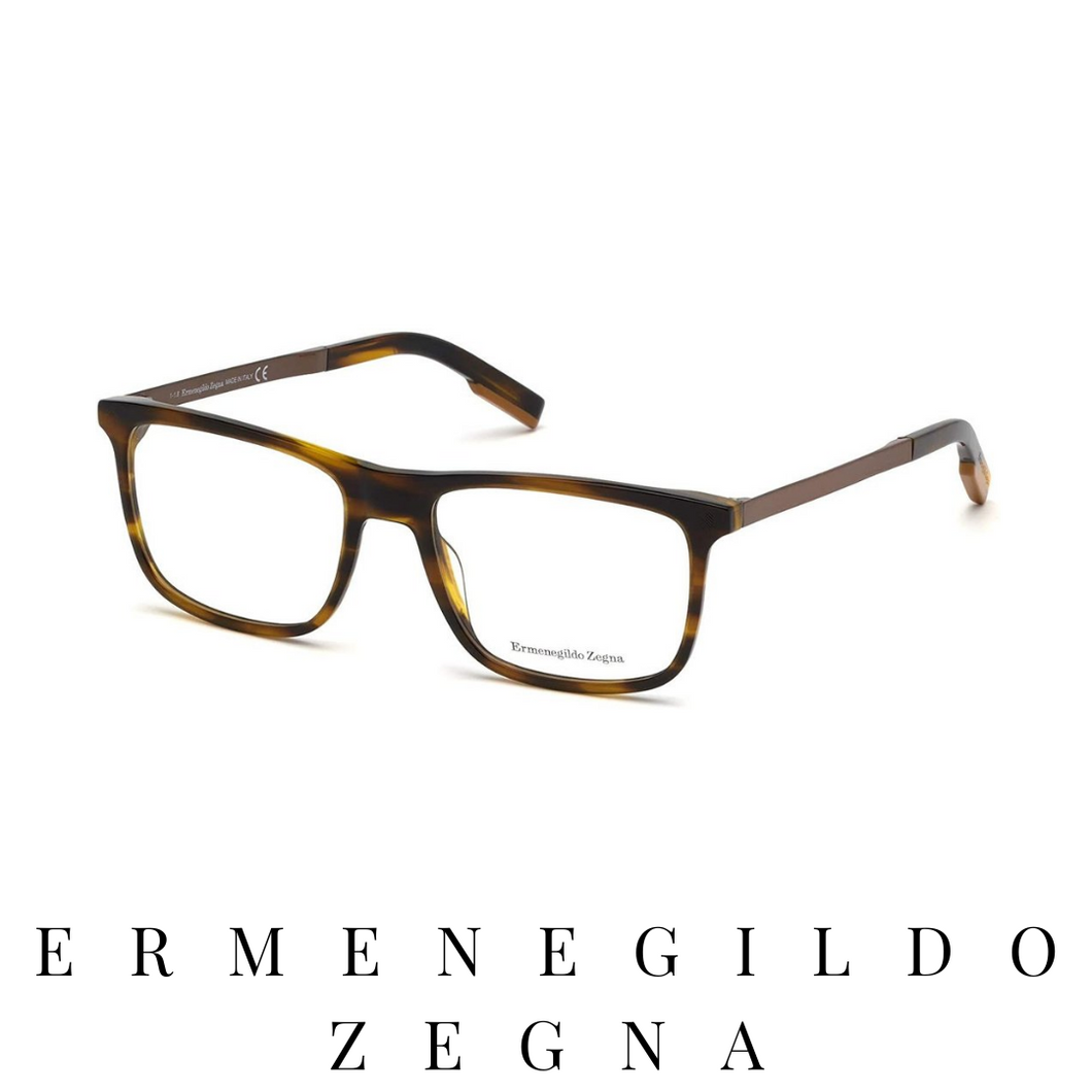 Ermenegildo Zegna Eyewear - Rectangle - Light Havana