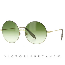 Victoria Beckham Feather Round Moss and Gold