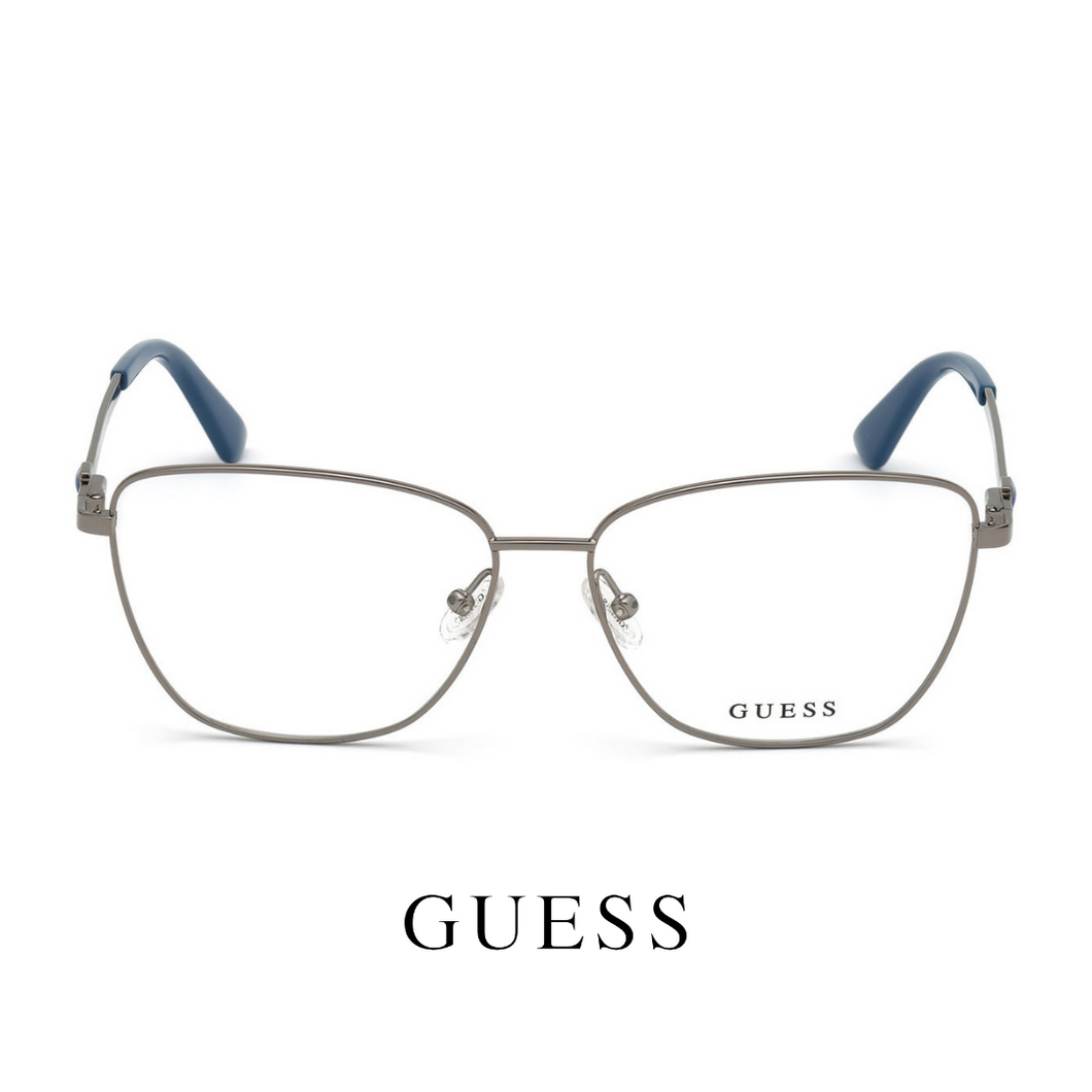 Guess Eyewear - Butterfly - Silver/Blue