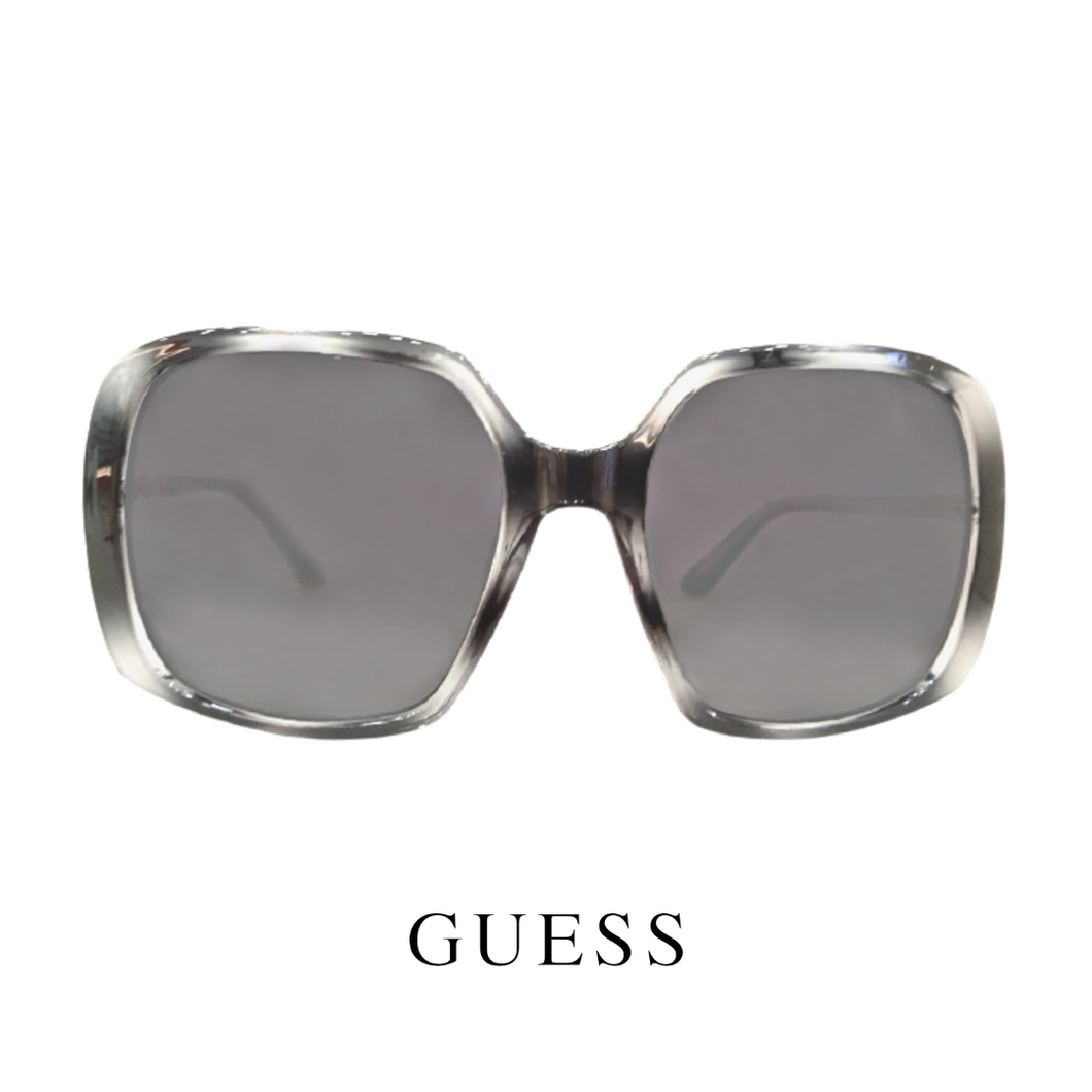 Guess - Square - Oversized - Grey Tortoiseshell/Silver