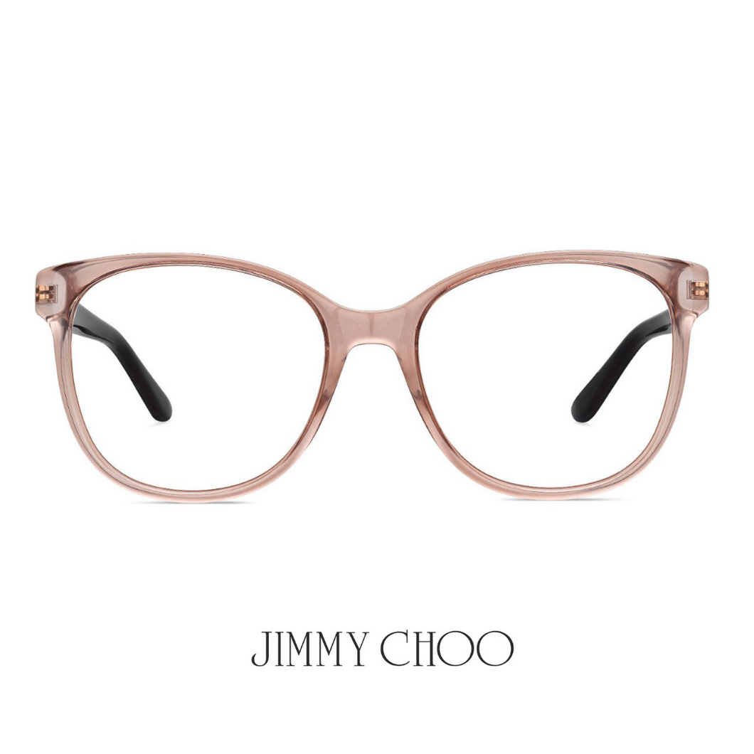 Jimmy Choo Eyewear - Round - Beige/Brown