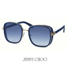 Jimmy Choo Elva Blue and Copper Gold