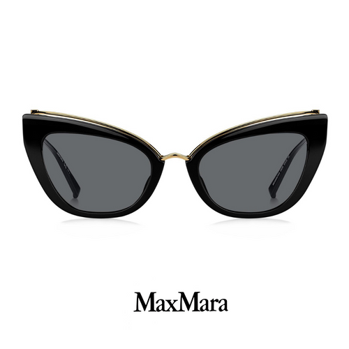 Max Mara Mini Cat-Eye Black&Gold