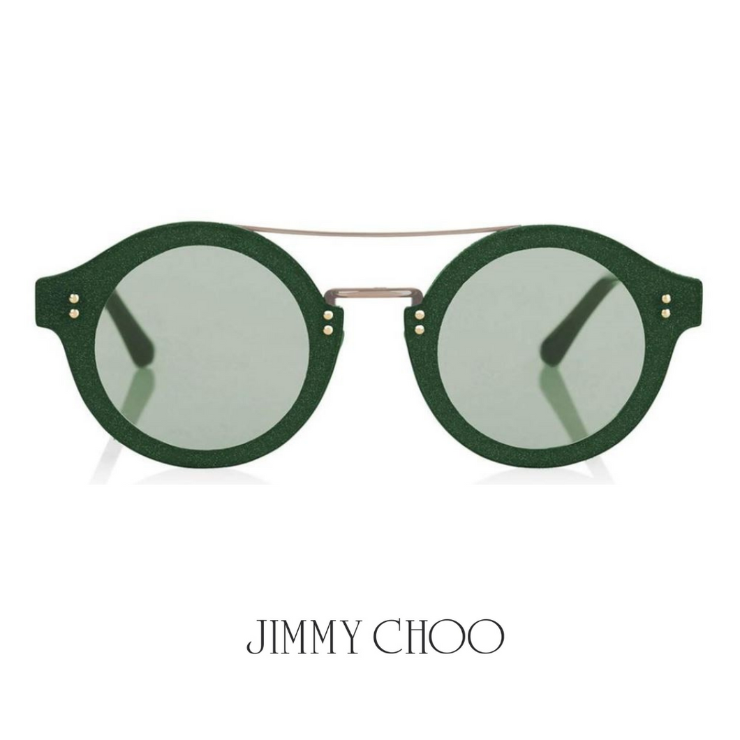Jimmy Choo Green Glitter