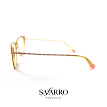 "Safarro Eyewear - ""Novara"" - Gold/Transparent Yellow"