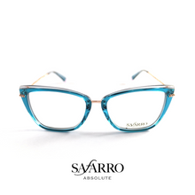 "Safarro Eyewear - ""Novara"" - Rose-Gold/Transparent Blue"